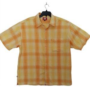 Ecko Unlimited XXl Yellow Orange Button Up Shirt